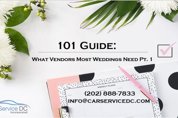 Complete List of Vendors to Consider for Your Wedding Pt.1